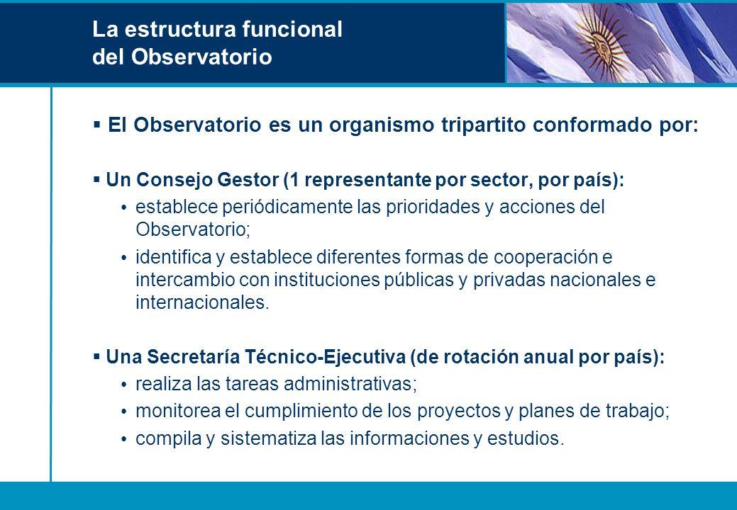 La estructura funcional del Observatorio