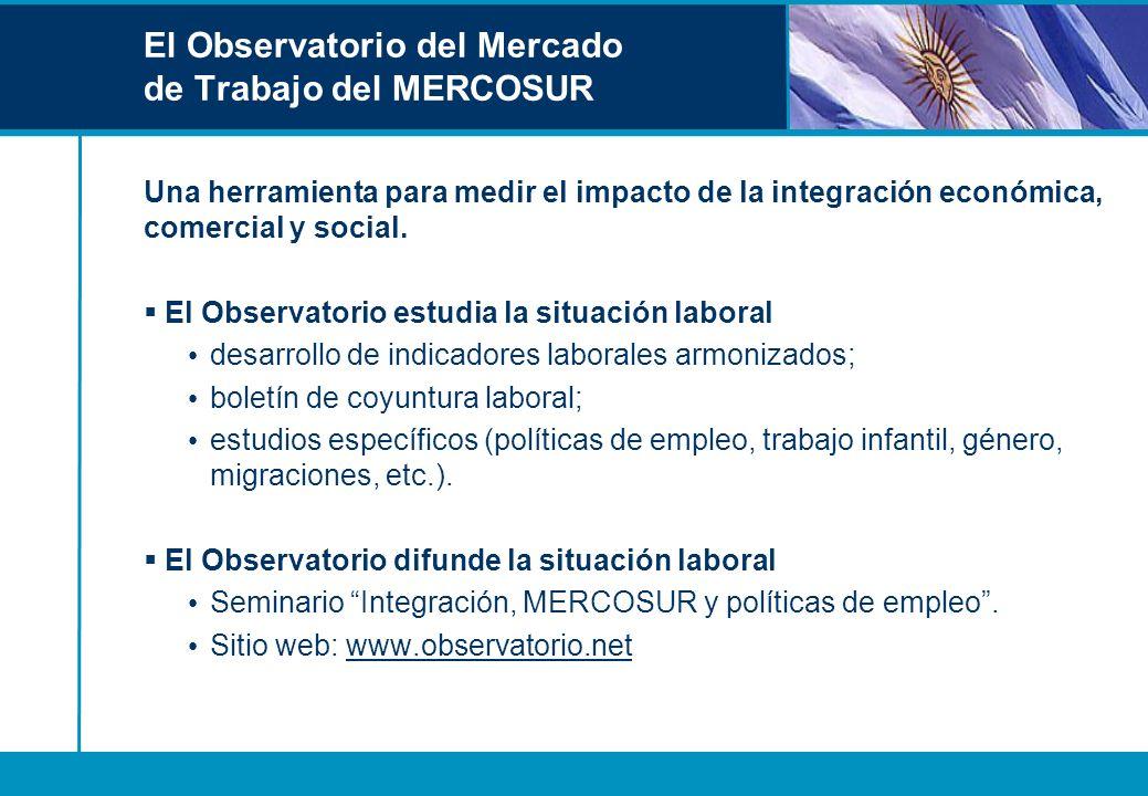 El Observatorio del Mercado de Trabajo del MERCOSUR