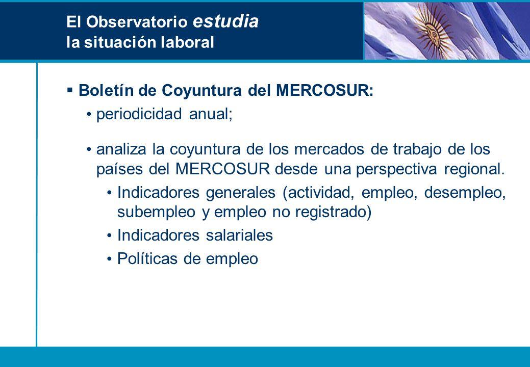 El Observatorio estudia la situación laboral