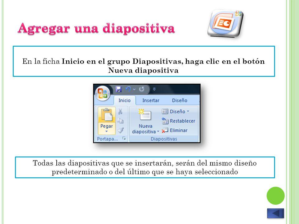 Agregar una diapositiva