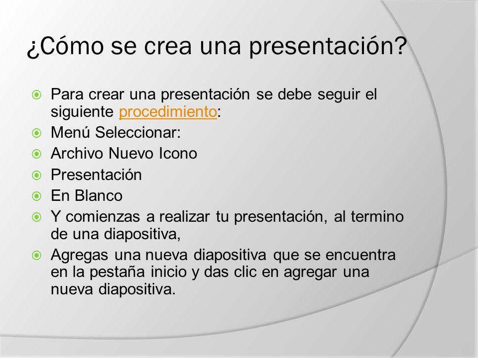 ¿Cómo se crea una presentación