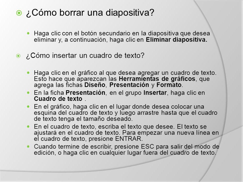 ¿Cómo borrar una diapositiva