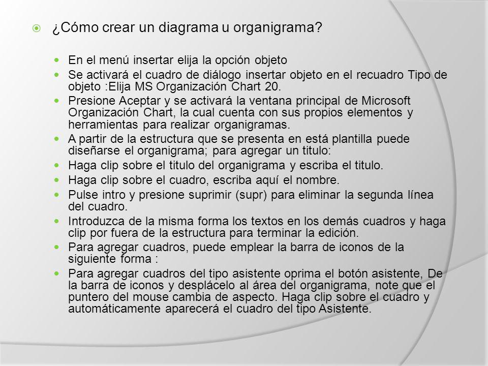 ¿Cómo crear un diagrama u organigrama