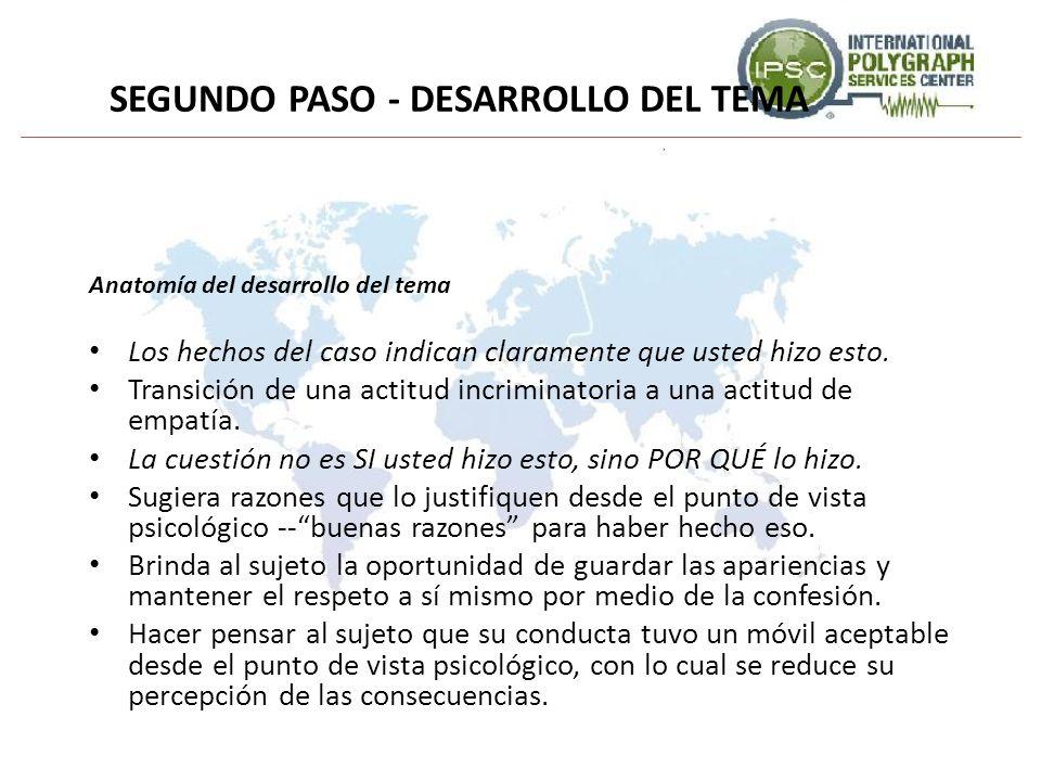 SEGUNDO PASO - DESARROLLO DEL TEMA