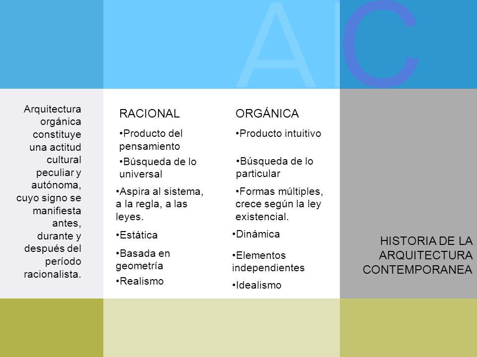 C historia de la arquitectura contemporanea ppt descargar for Caracteristicas de la contemporanea