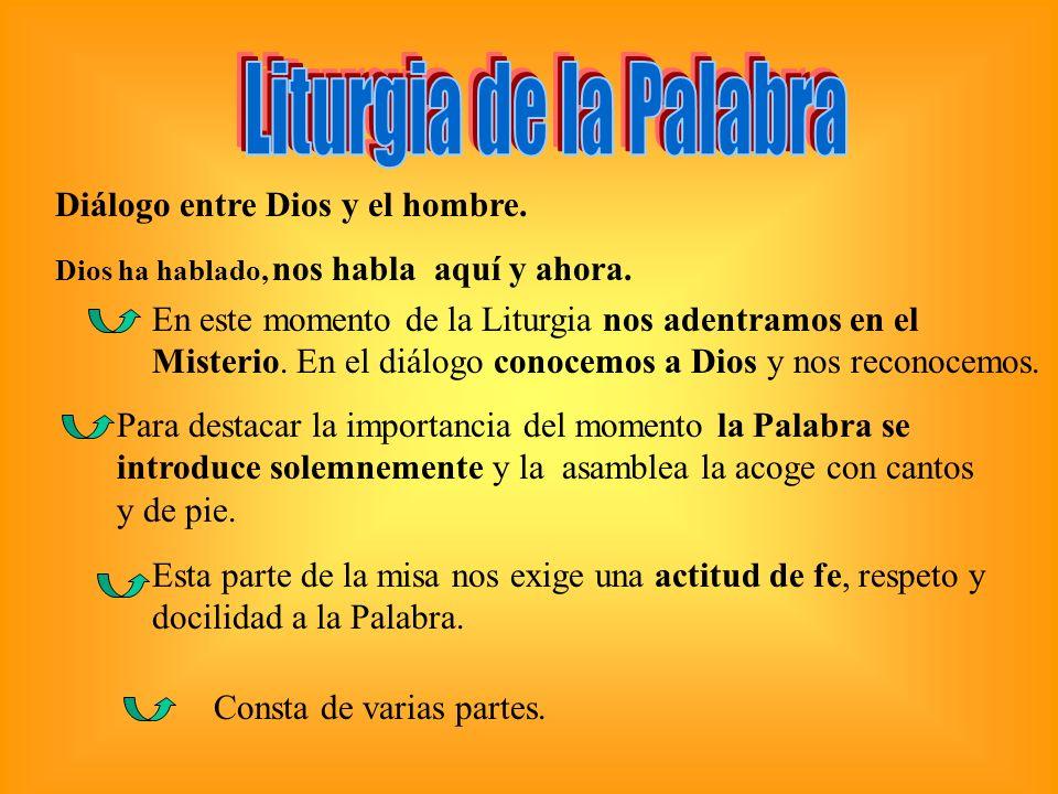 Liturgia de la Palabra Diálogo entre Dios y el hombre.