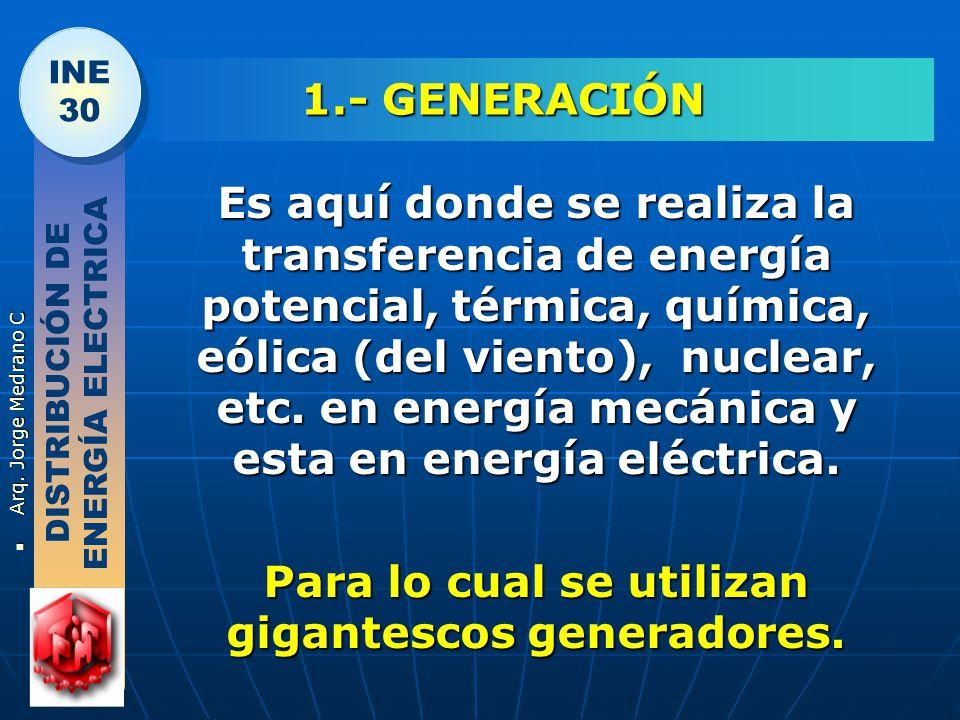 Para lo cual se utilizan gigantescos generadores.