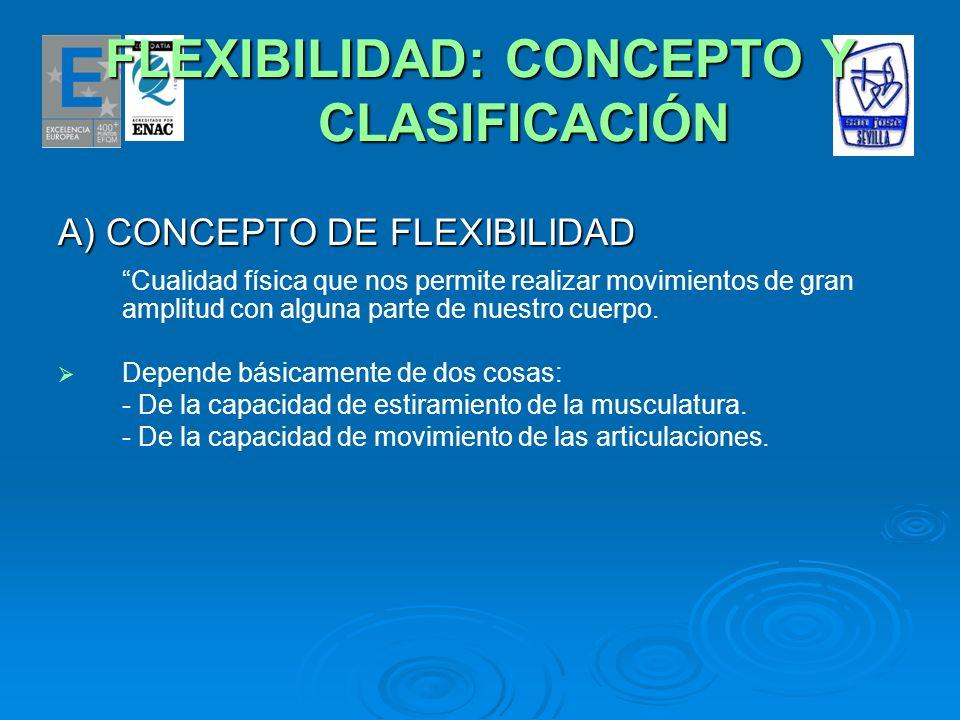 FLEXIBILIDAD: CONCEPTO Y CLASIFICACIÓN