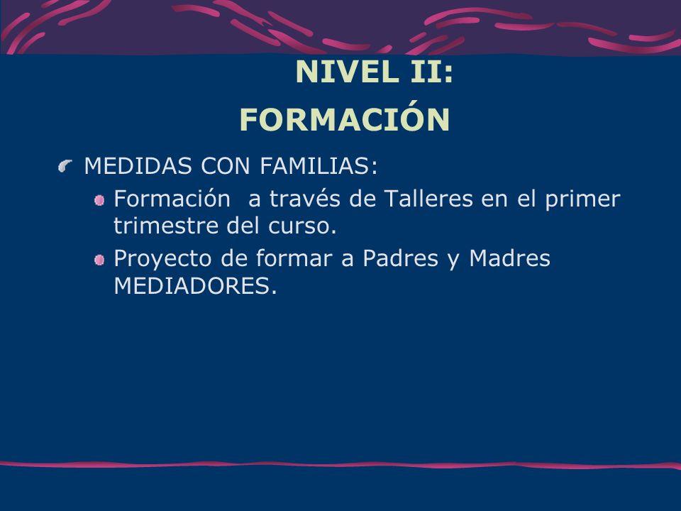 NIVEL II: FORMACIÓN MEDIDAS CON FAMILIAS: