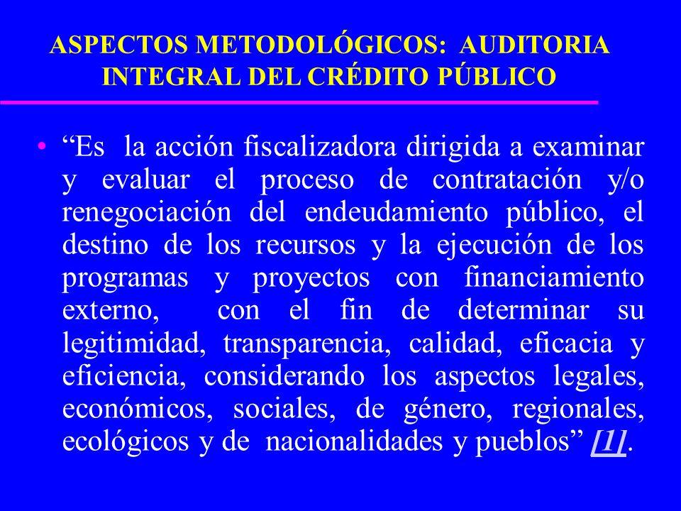 ASPECTOS METODOLÓGICOS: AUDITORIA INTEGRAL DEL CRÉDITO PÚBLICO