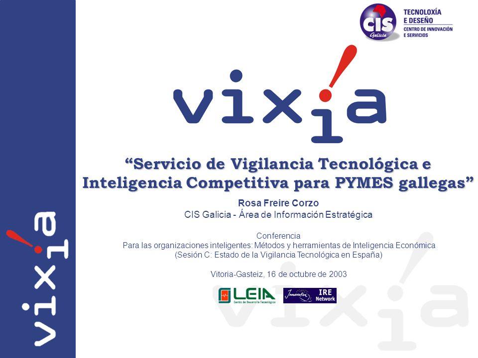 Servicio de Vigilancia Tecnológica e Inteligencia Competitiva para PYMES gallegas
