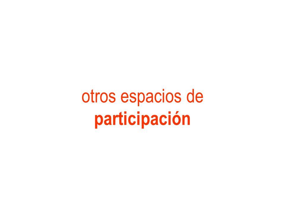otros espacios de participación