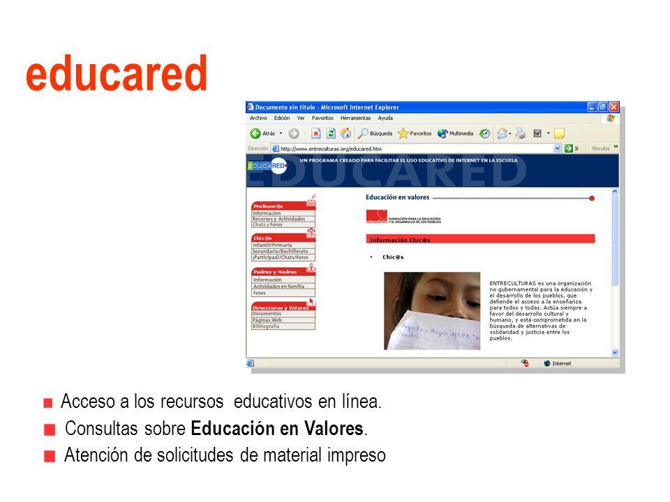 educared Consultas sobre Educación en Valores.