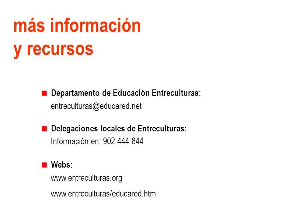 más información y recursos