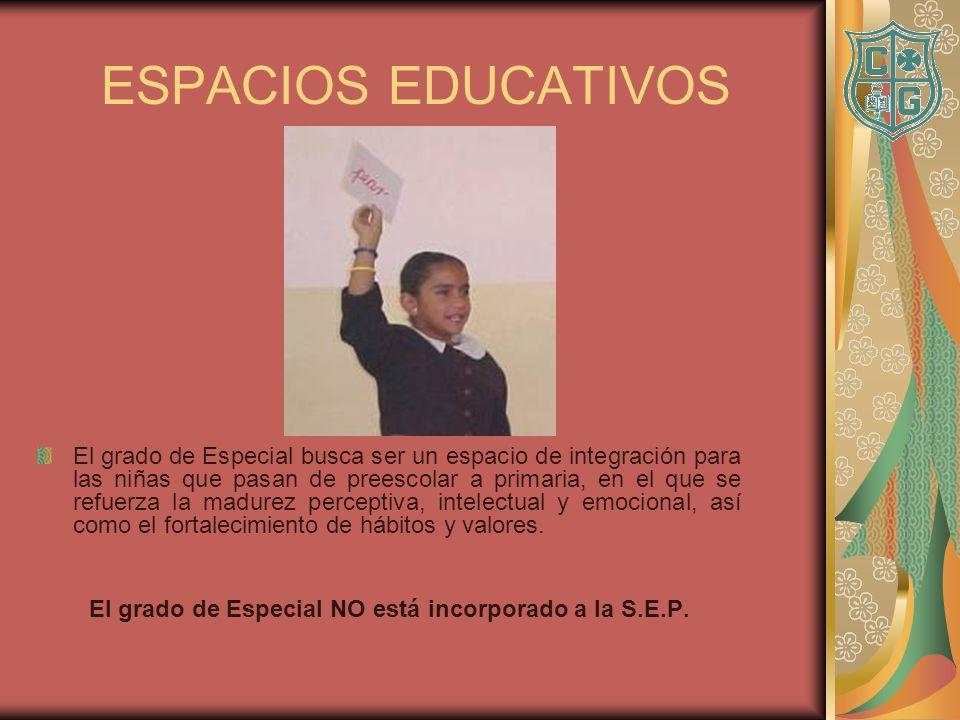 El grado de Especial NO está incorporado a la S.E.P.