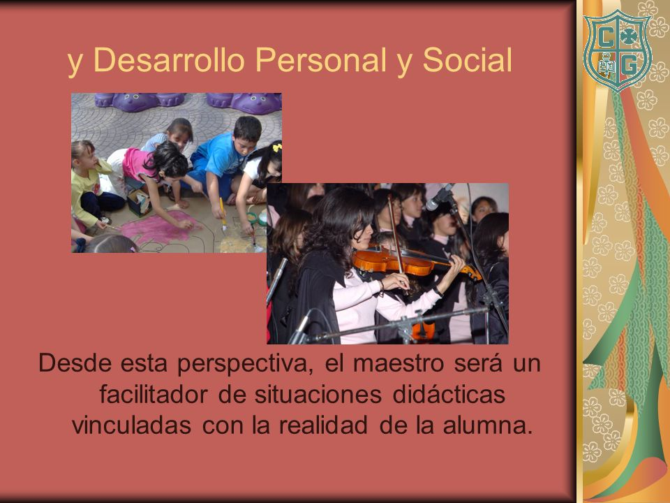 y Desarrollo Personal y Social