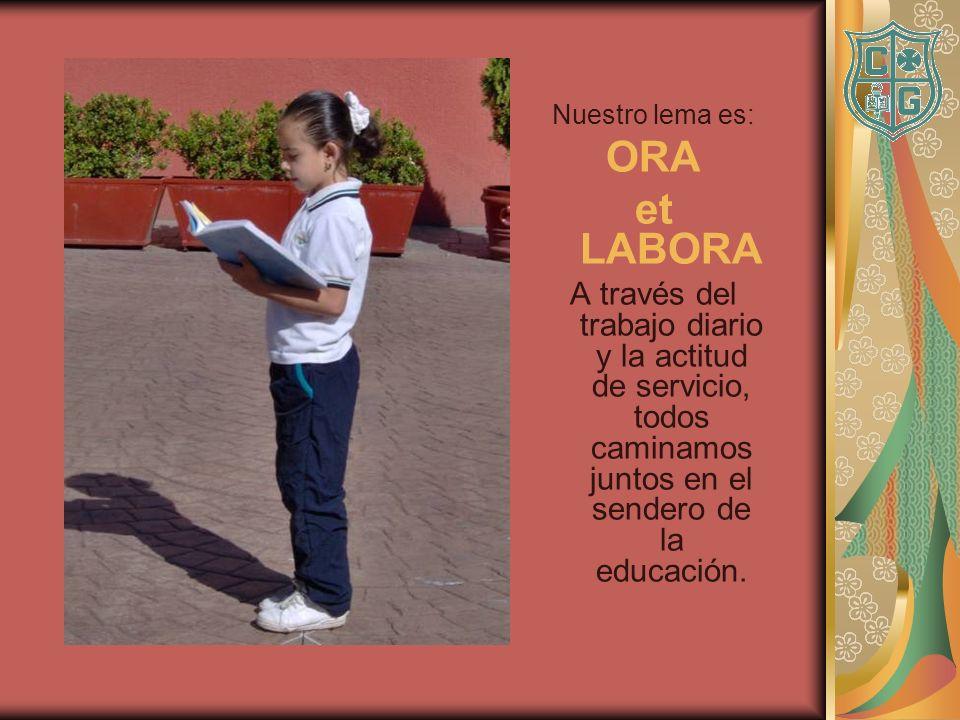 Nuestro lema es: ORA. et LABORA.