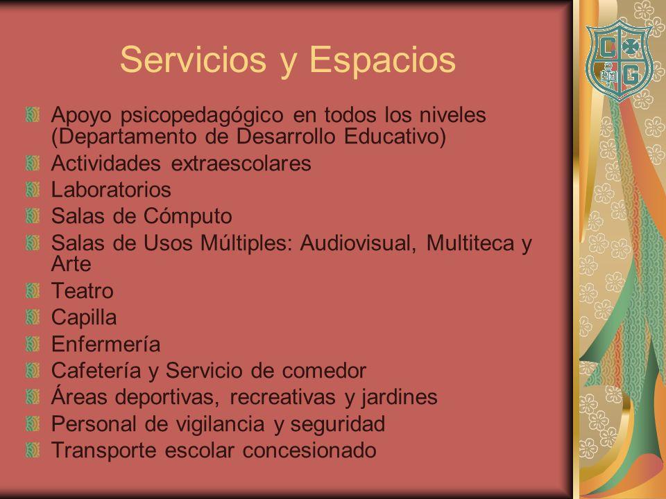 Servicios y Espacios Apoyo psicopedagógico en todos los niveles (Departamento de Desarrollo Educativo)
