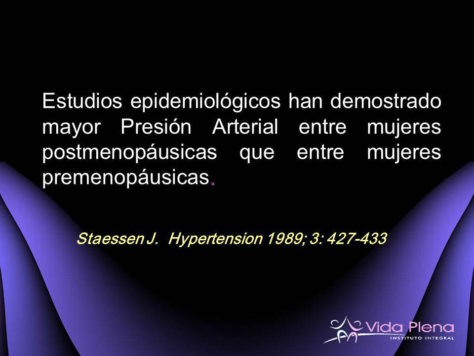 Staessen J. Hypertension 1989; 3: 427-433
