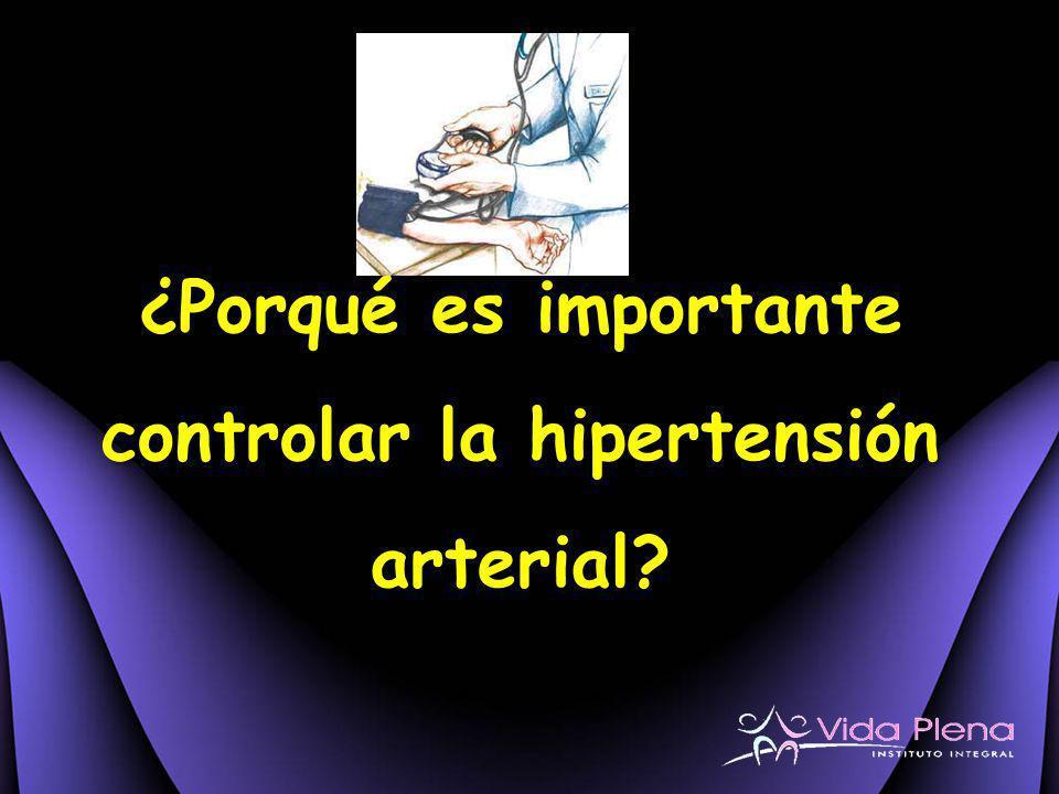 ¿Porqué es importante controlar la hipertensión arterial