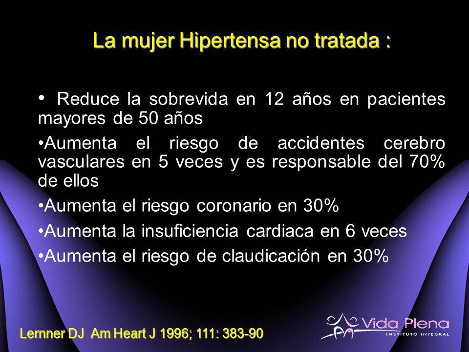 La mujer Hipertensa no tratada :