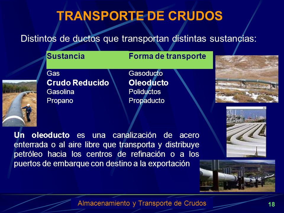Almacenamiento y Transporte de Crudos