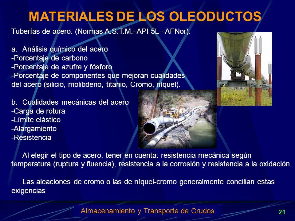 MATERIALES DE LOS OLEODUCTOS