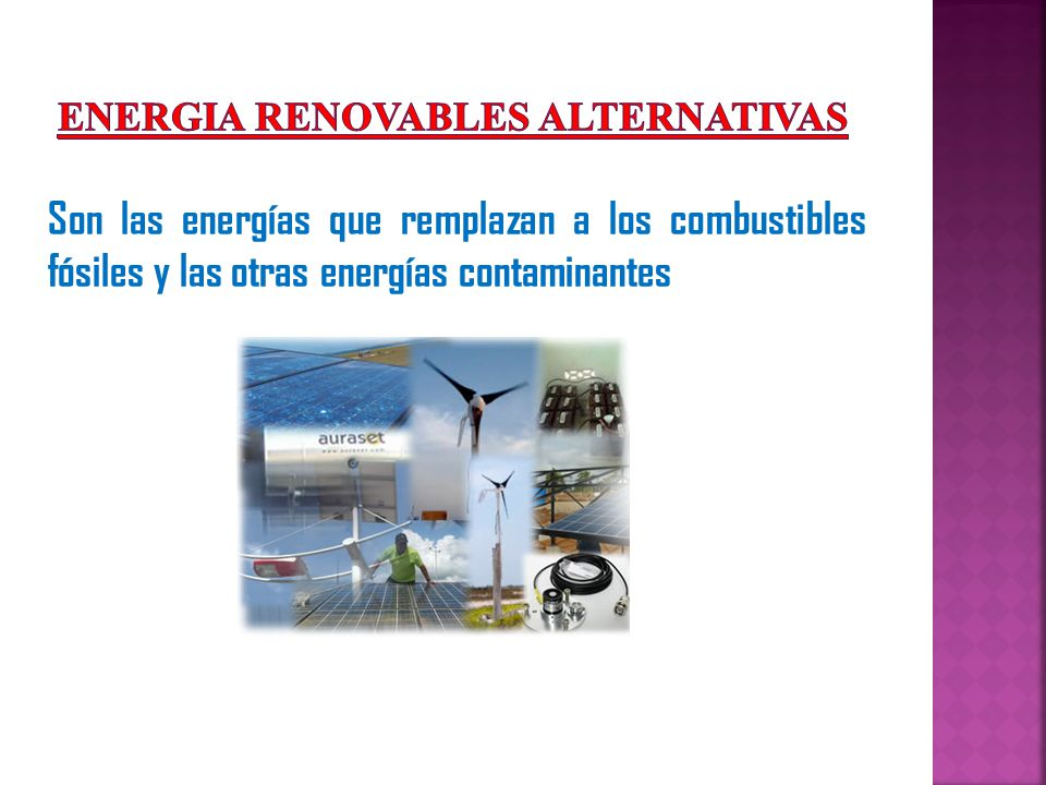 ENERGIA RENOVABLES ALTERNATIVAS