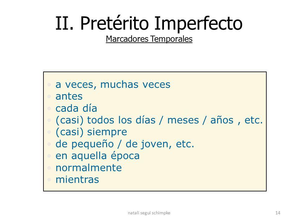Afbeeldingsresultaat voor marcadores temporales del imperfecto