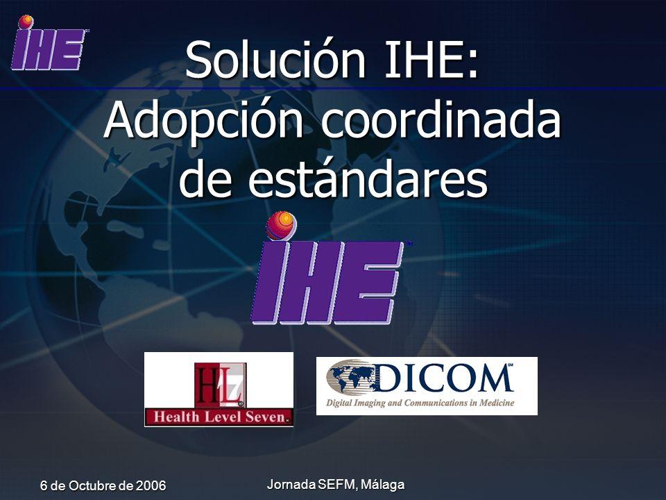 Solución IHE: Adopción coordinada de estándares