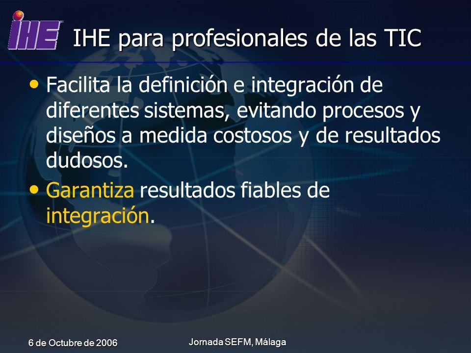 IHE para profesionales de las TIC