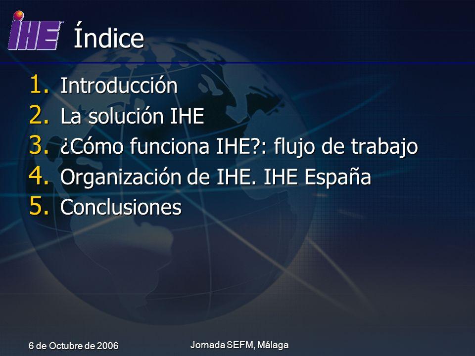 Índice Introducción La solución IHE