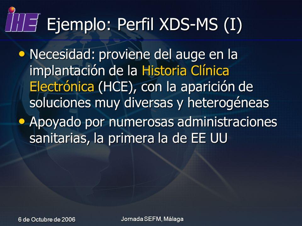 Ejemplo: Perfil XDS-MS (I)