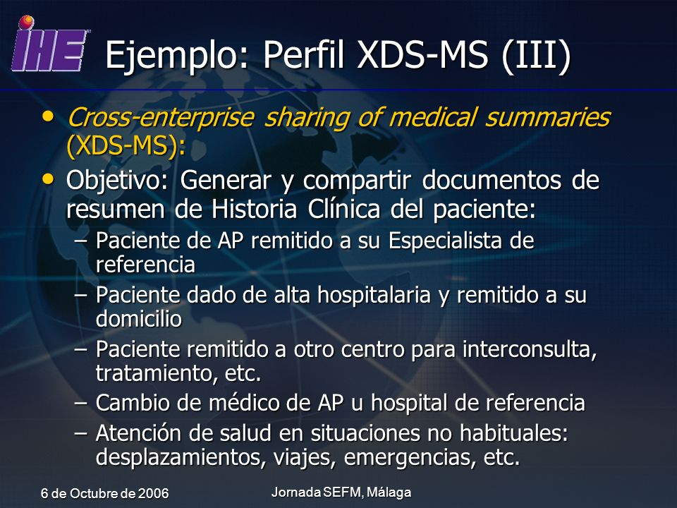 Ejemplo: Perfil XDS-MS (III)