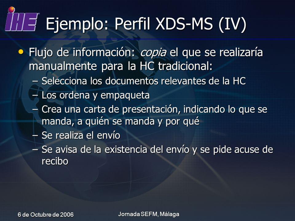 Ejemplo: Perfil XDS-MS (IV)