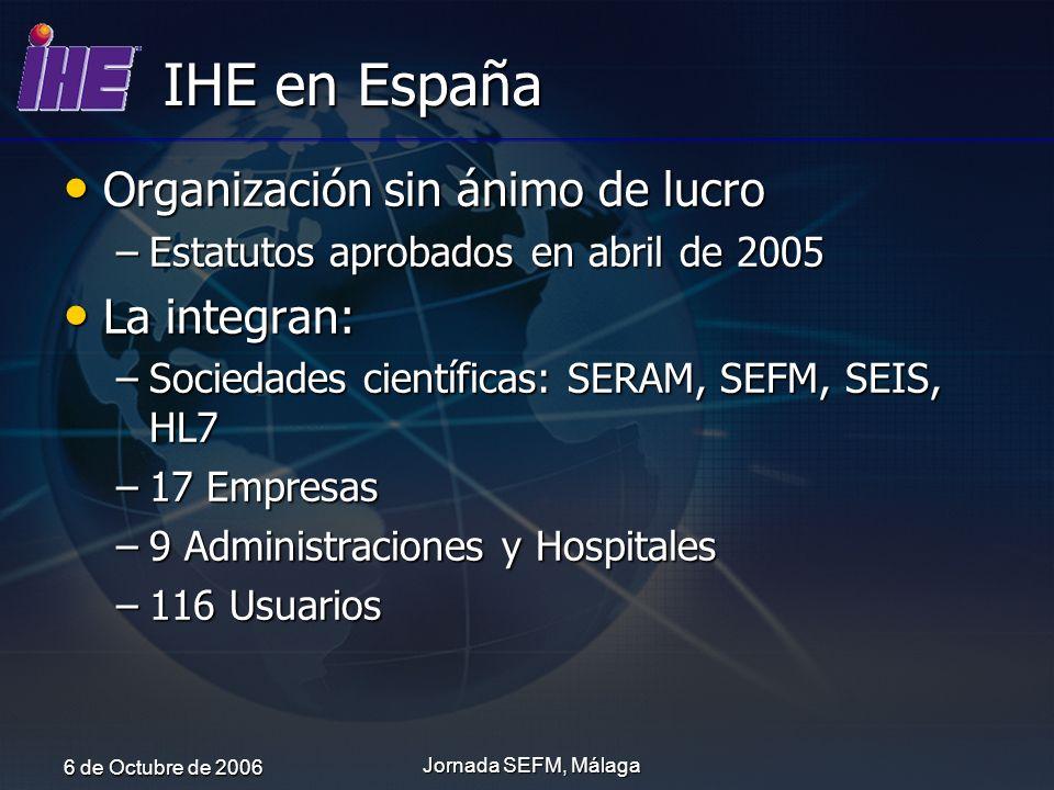 IHE en España Organización sin ánimo de lucro La integran: