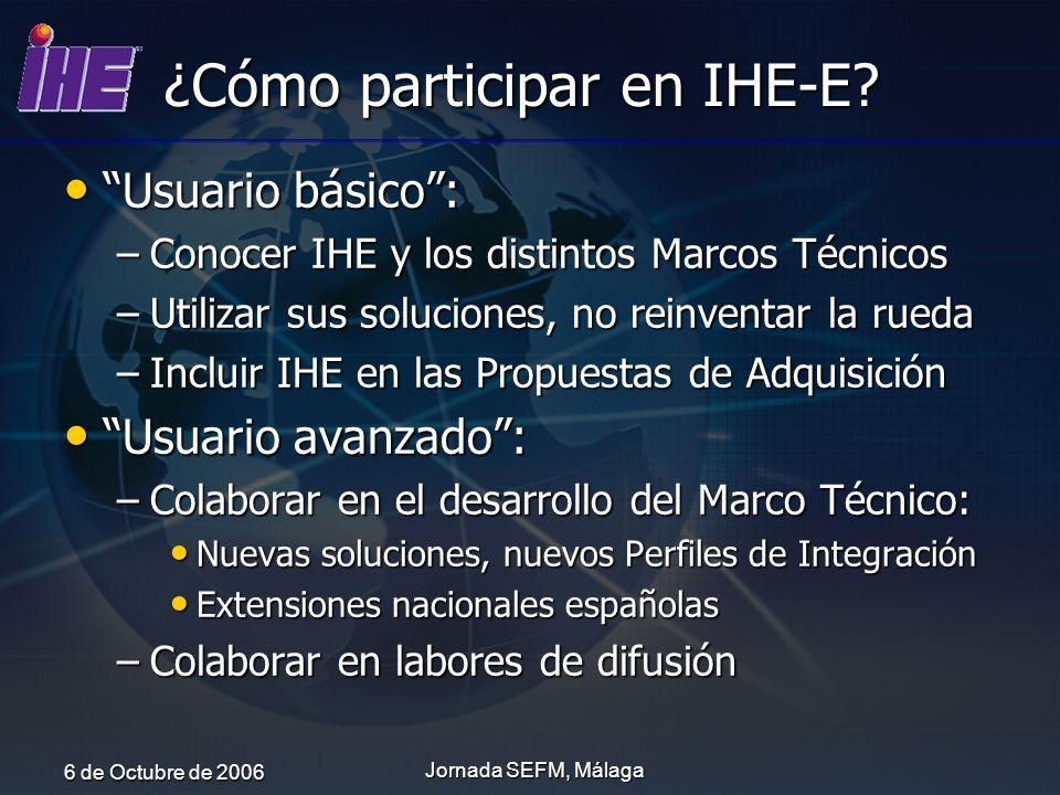 ¿Cómo participar en IHE-E