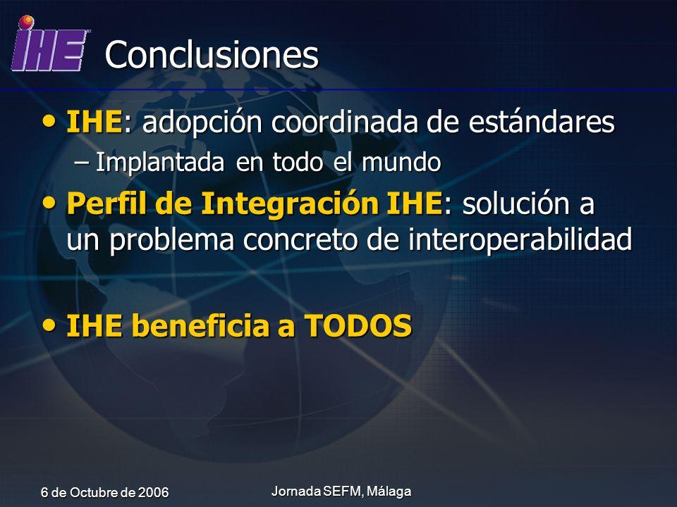 Conclusiones IHE: adopción coordinada de estándares