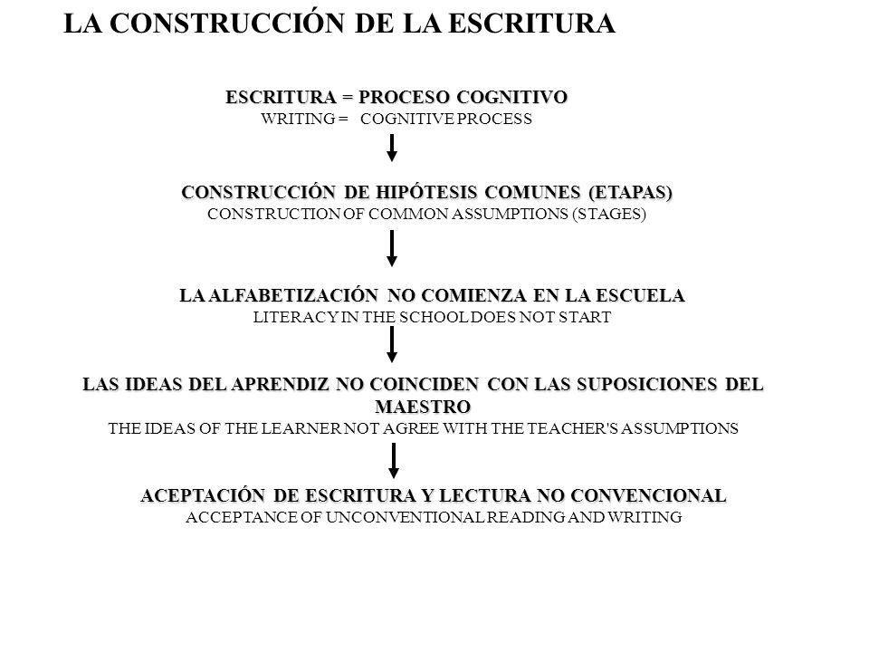 LA CONSTRUCCIÓN DE LA ESCRITURA