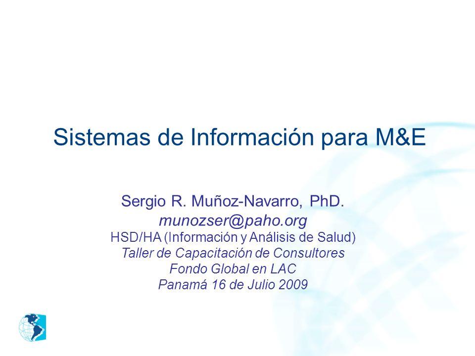 Sistemas de Información para M&E