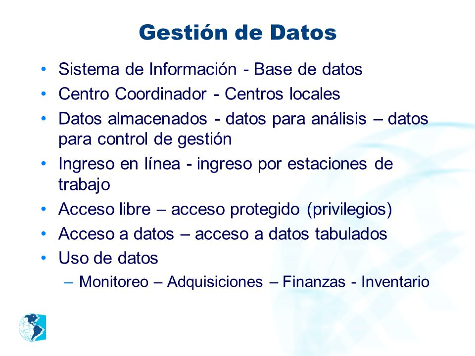 Gestión de Datos Sistema de Información - Base de datos