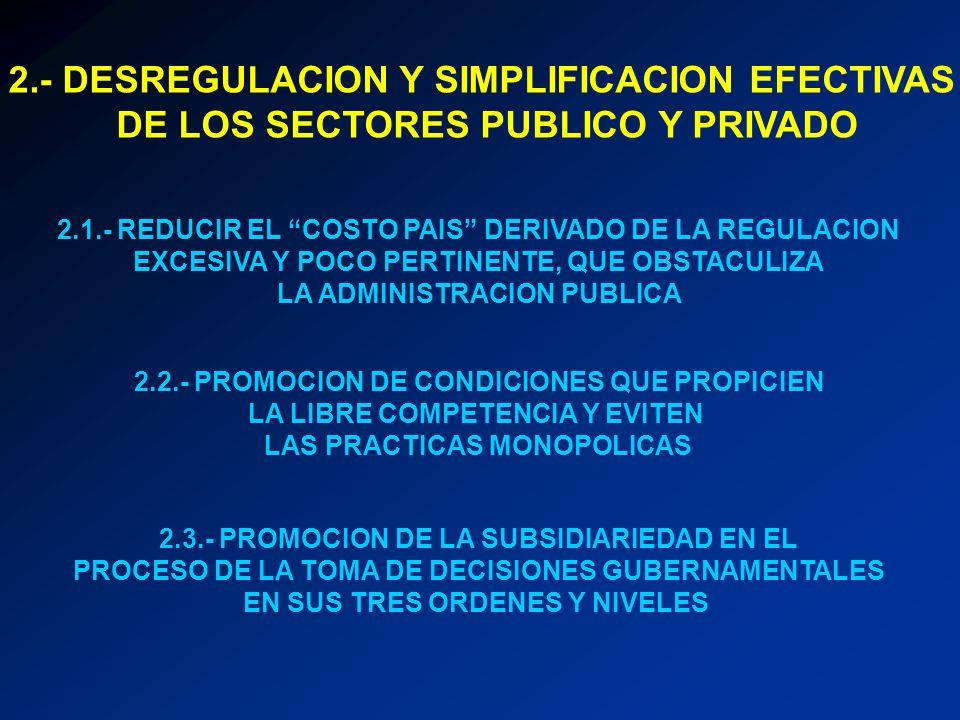 2.- DESREGULACION Y SIMPLIFICACION EFECTIVAS