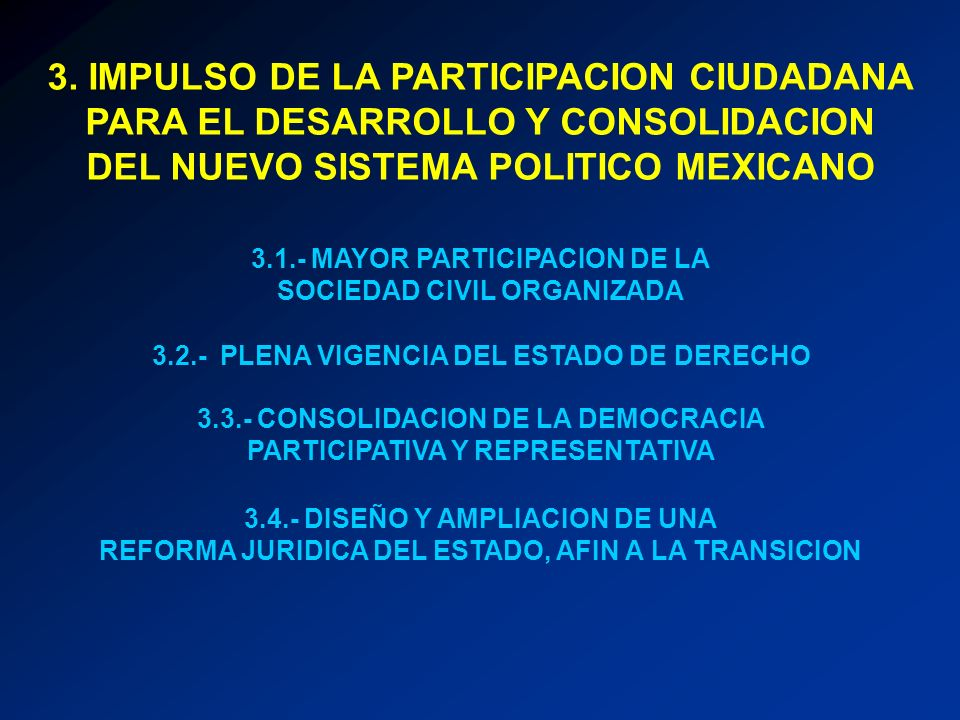 3. IMPULSO DE LA PARTICIPACION CIUDADANA