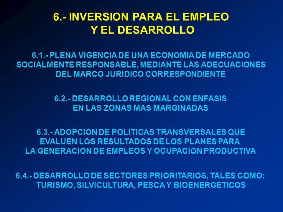6.- INVERSION PARA EL EMPLEO Y EL DESARROLLO