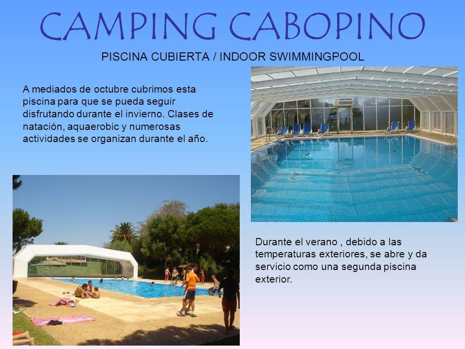 Camping cabopino vista a rea aerial view ppt descargar for Camping con piscina cubierta