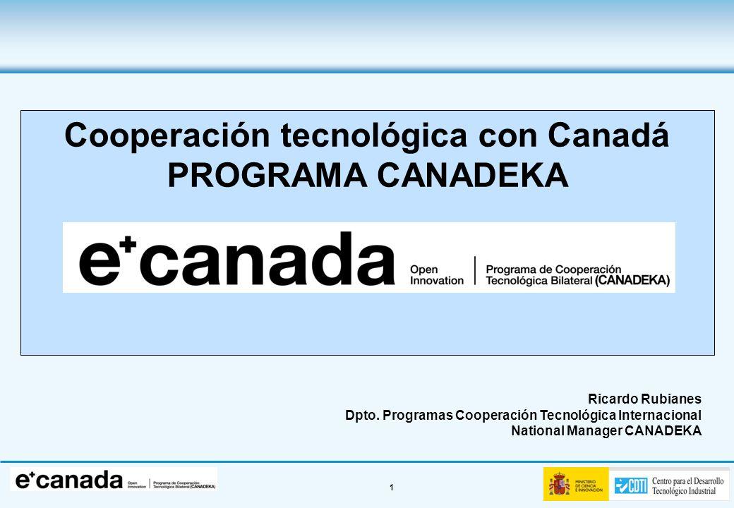 Cooperación tecnológica con Canadá
