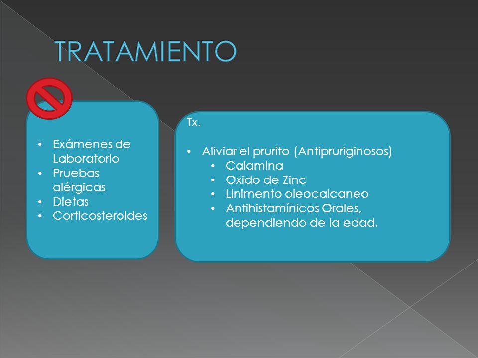 TRATAMIENTO Tx. Exámenes de Laboratorio