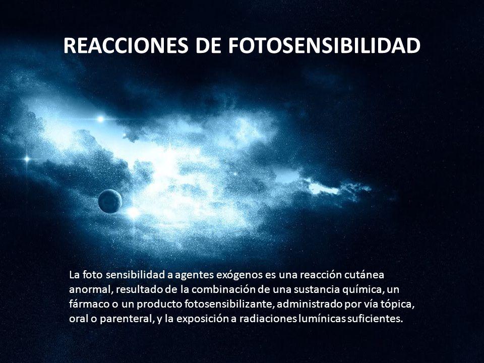 REACCIONES DE FOTOSENSIBILIDAD