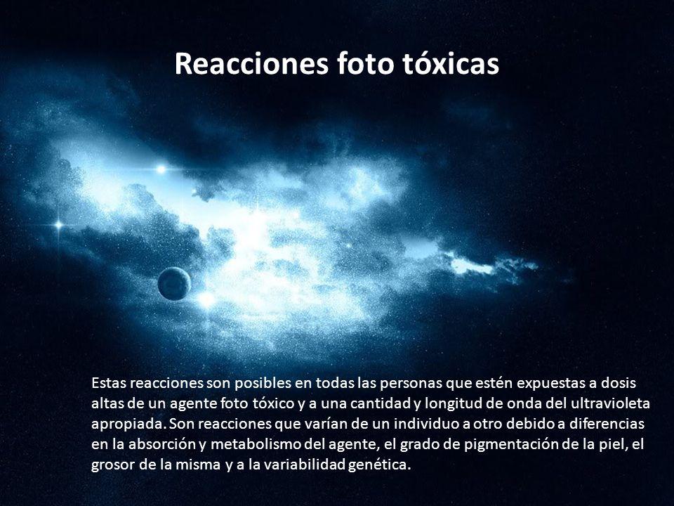Reacciones foto tóxicas