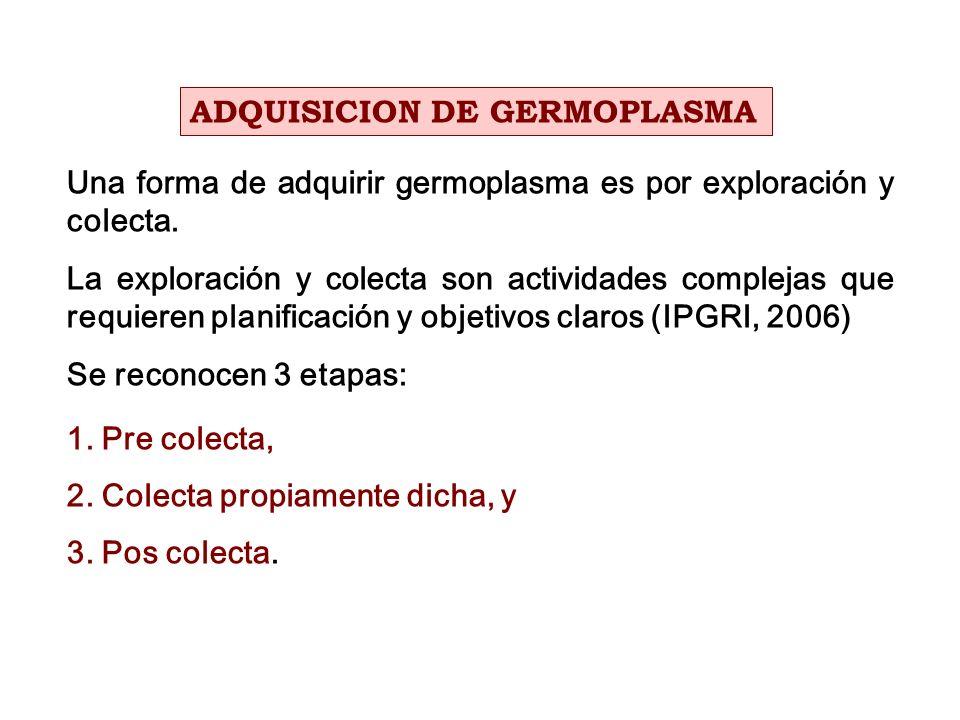 ADQUISICION DE GERMOPLASMA